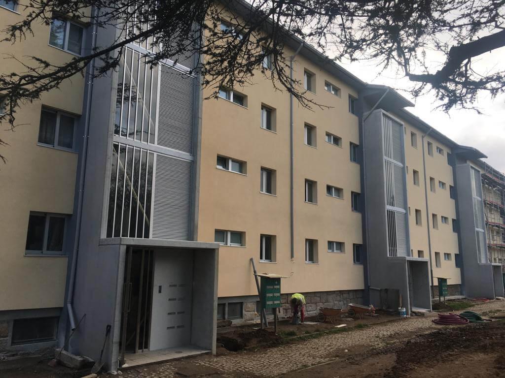Obras de reabilitação e beneficiação do Bloco 1 do conjunto de habitação social da Pasteleira